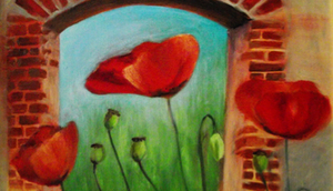 Zaproszenie na wystawę Elżbiety Mech - Malarstwo