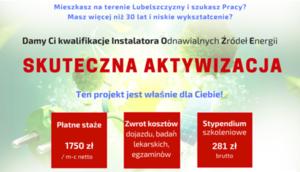 Projekt pn.: Instalator Urządzeń Energii Odnawialnej