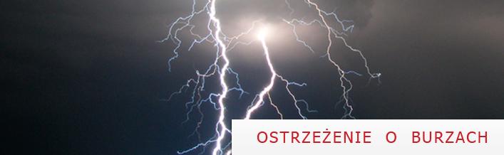 OSTRZEŻENIE O BURZACH Z GRADEM z dnia 6.08.2012 r