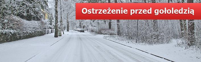 Ostrzeżenie przed gołoledzią w dniu 15.12.2012 r.