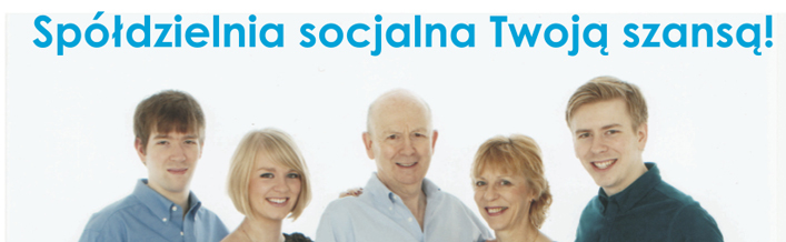 Zaproszenie na spotkanie informacyjne dotyczące założenia i funkcjonowania spółdzielni socjalnych.