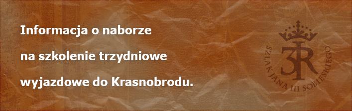Informacja o naborze na szkolenie trzydniowe wyjazdowe do Krasnobrodu.
