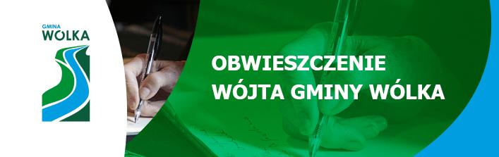 Obwieszczenie Wójta Gminy Wólka z dnia 16 października 2014 r.