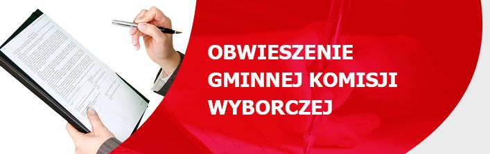 Obwieszenie Gminnej Komisji Wyborczej w Wólce z dnia 23 października 2014 r. o zarejestrowanych listach kandydatów