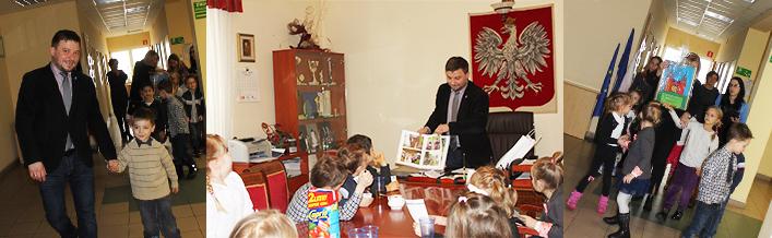 Wizyta Przedszkolaków w Urzędzie Gminy Wólka