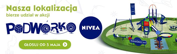 Wejdź na stronęwww.nivea.pl/podworko2016i oddaj głos na nowe place zabaw w Gminie Wólka