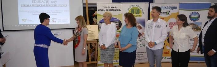 """Konferencja ,,Wspieramy polską edukację 2017. Szkoła miejscem sukcesu ucznia"""""""