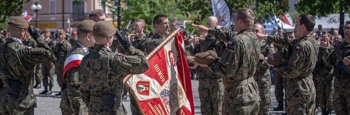 Przysięga żołnierzy WOT w Białej Podlaskiej