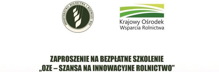 Krajowy Ośrodek Wsparcia Rolnictwa zaprasza na szkolenie poświęcone zagadnieniom związanym z wykorzystywaniem odnawialnych źródeł energii