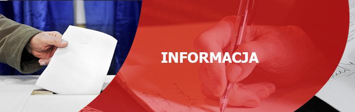 Informacja Komisarza Wyborczego w Lublinie I  z dnia 30 sierpnia  2019 r.