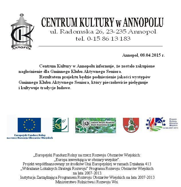 Ogłoszenie Centrum Kultury