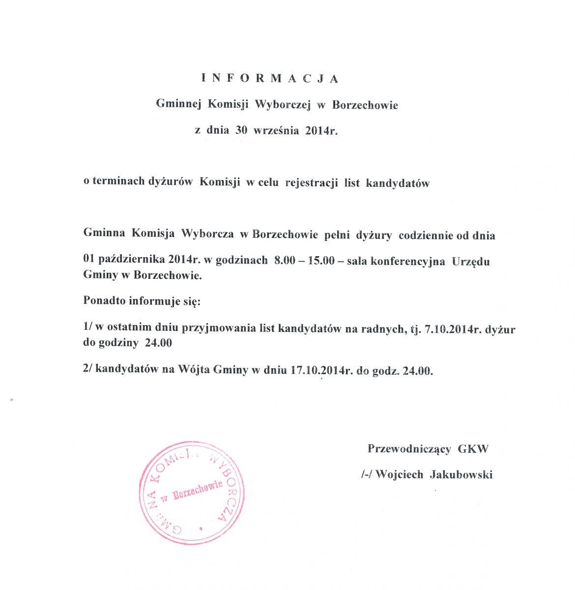 Skład Komisji Wyborczej