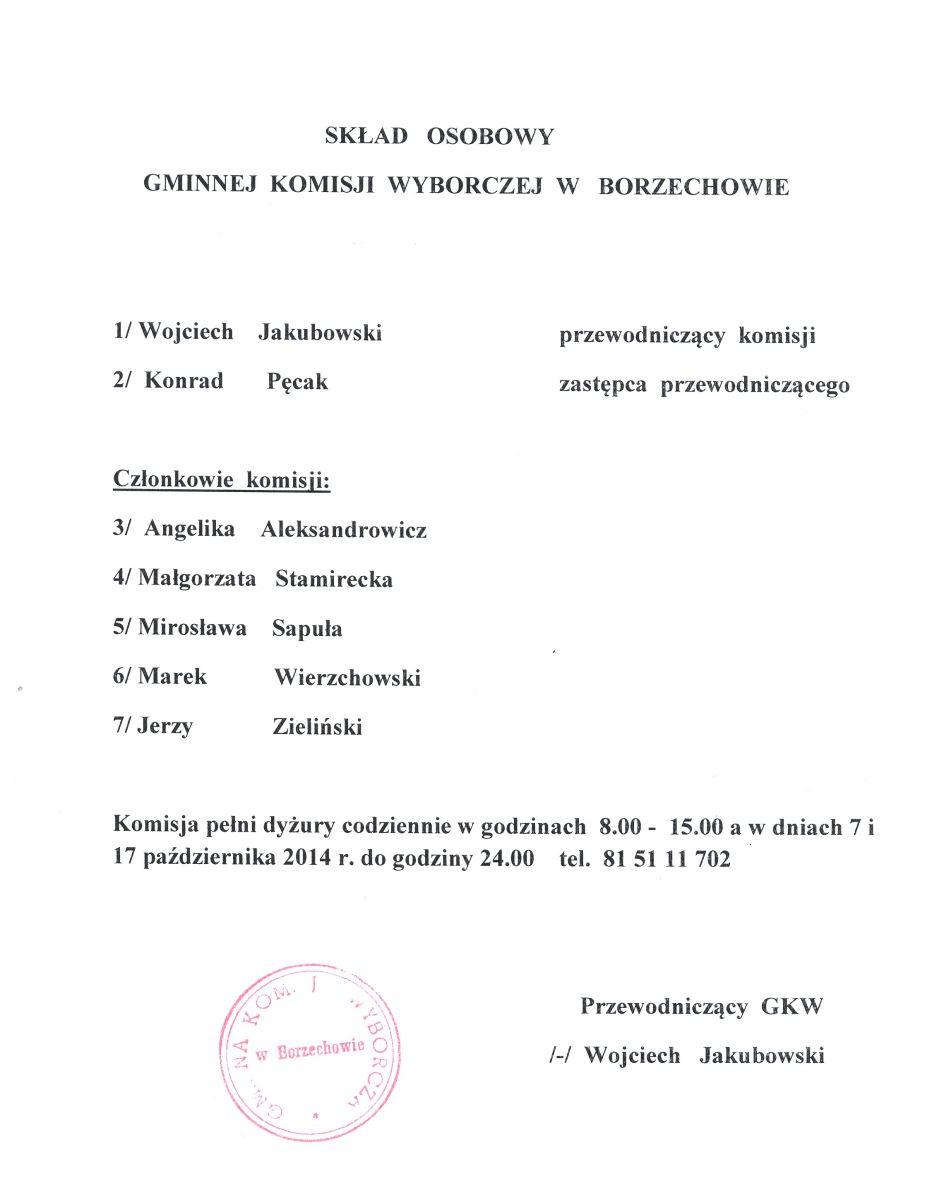 Skład osobowy Komisji