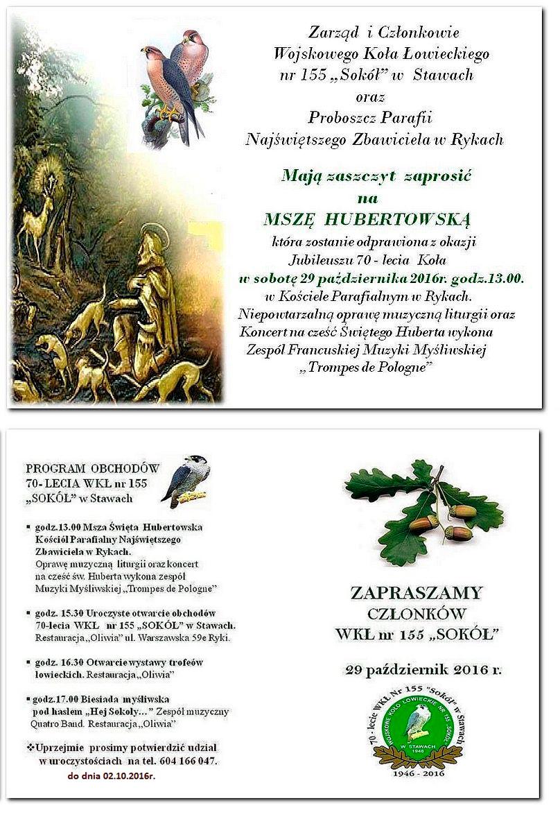 Zaproszenie Na Obchody Jubileuszu 70 Lecia Wojskowego Koła