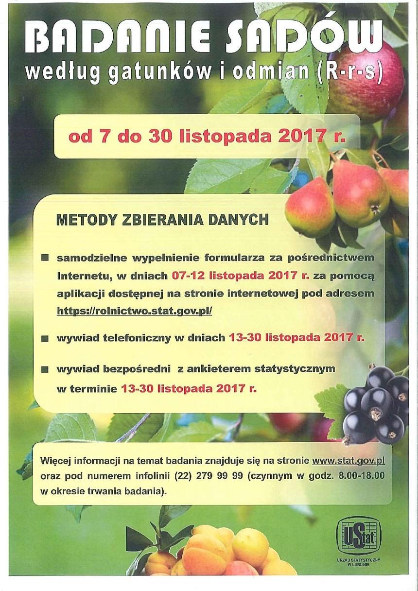 Badanie sadów według gatunków i odmian