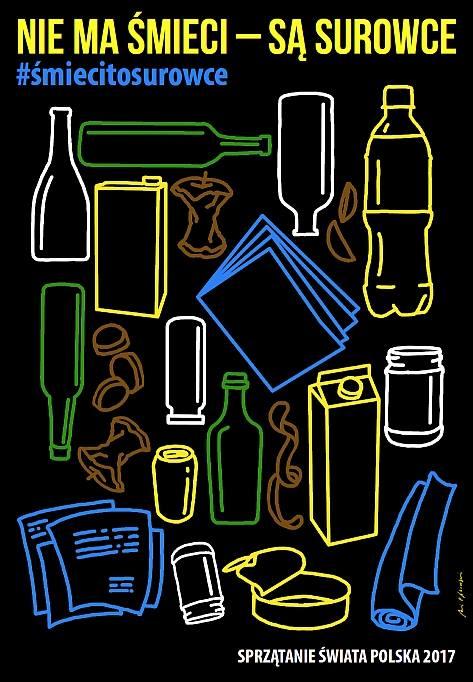 Już w ten weekend wielka społeczna akcja na rzecz poszanowania środowiska! Nie ma śmieci – są surowce!