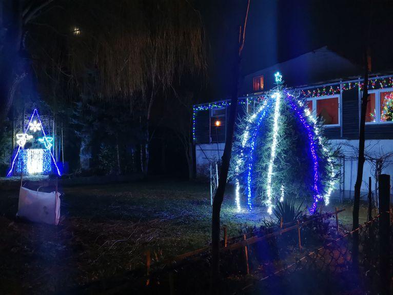 świąteczne dekoracje domów w Imbramowicach