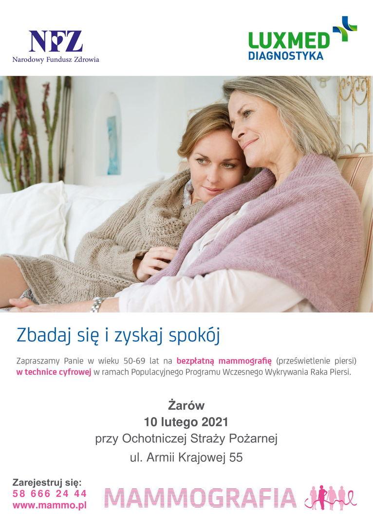 Plakat Badanie mammograficzne
