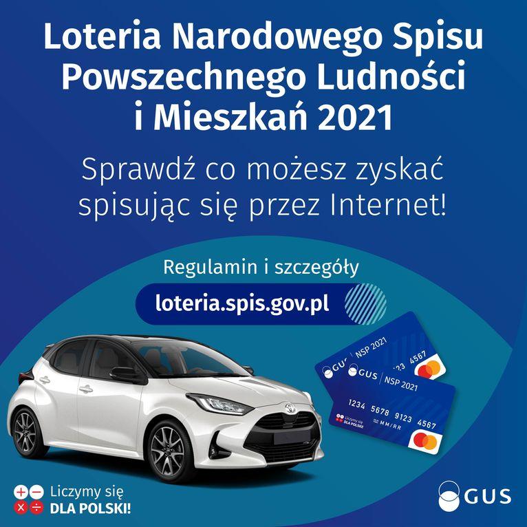 loteria spis Loteria Narodowego Spisu Powszechnego Ludności i Mieszkań 2021 Sprawdź co możesz zyskać spisując się przez Internet! Regulamin i szczegóły loteria.spis.gov.pl