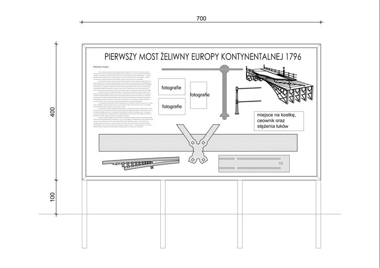 projekt ekspozycji mostu