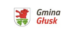 Herb z napisem Gmina Głusk
