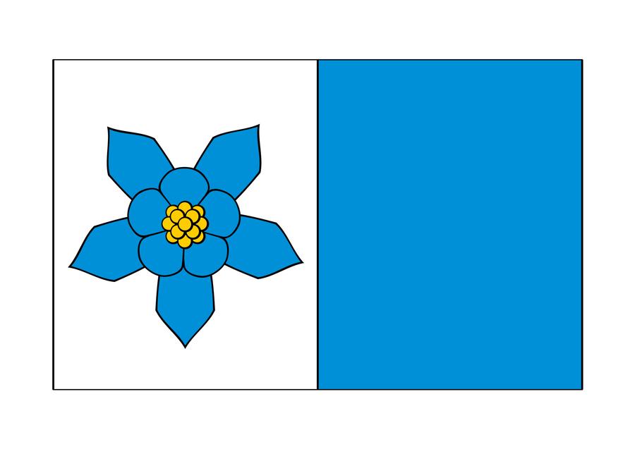 Flaga Gminy Abramów