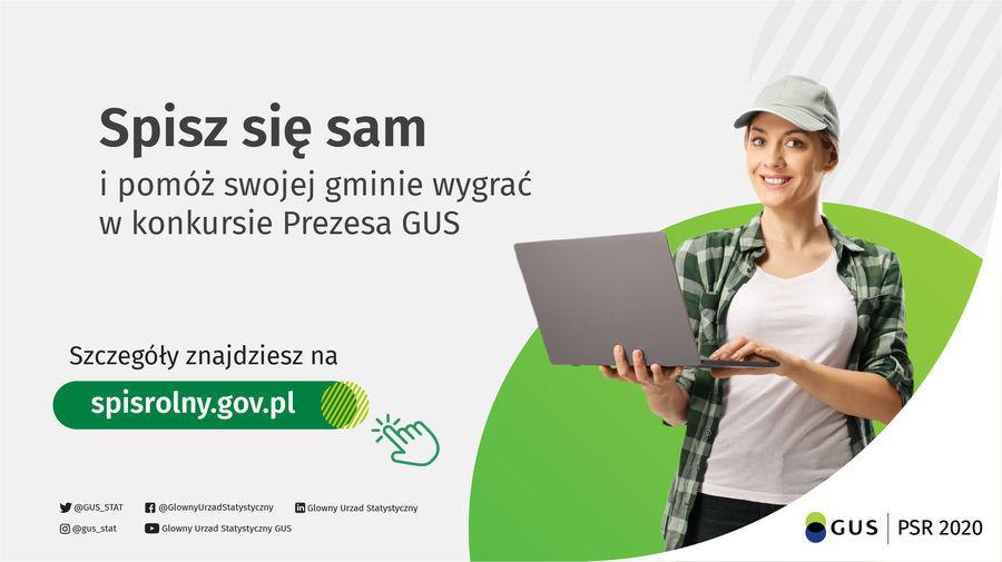 PSR 2020 - Konkurs Prezesa GUS na gminę o najwyższym odsetku spisanych gospodarstw rolnych w kanale samospisu