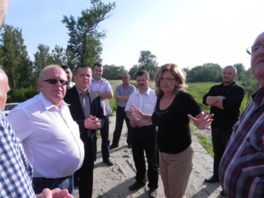 Wizyta Wojewody Lubelskiego na wałach