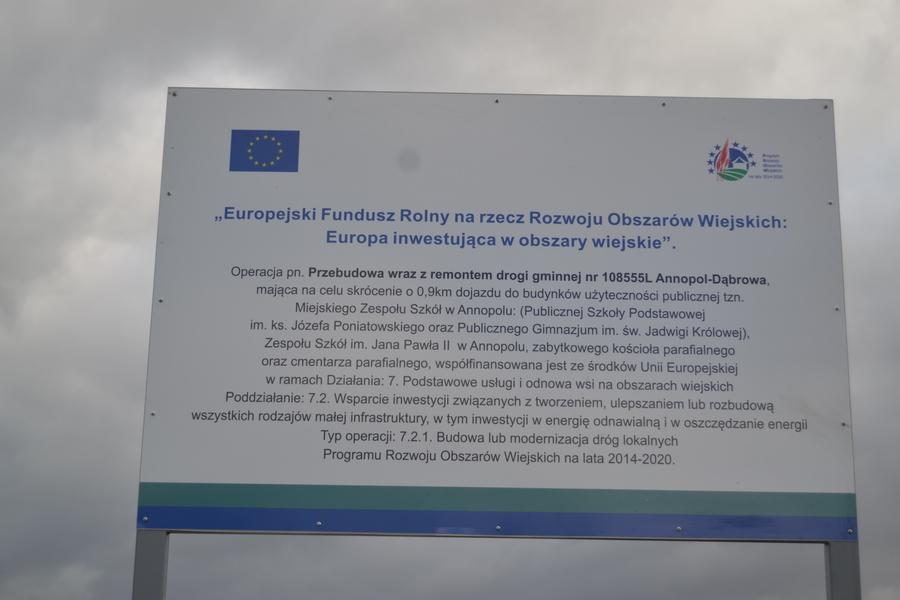 BUDOWA DROGI NR 108555L ANNOPOL DĄBROWA ZAKOŃCZONA.