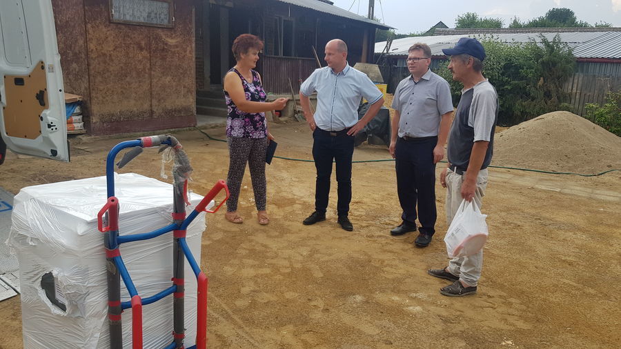 Pomoc poszkodowanym w wyniku ulewnych deszczy