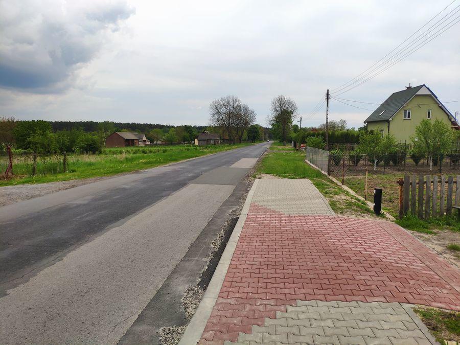 Planowane miejsce budowy chodnika w Opoce 2