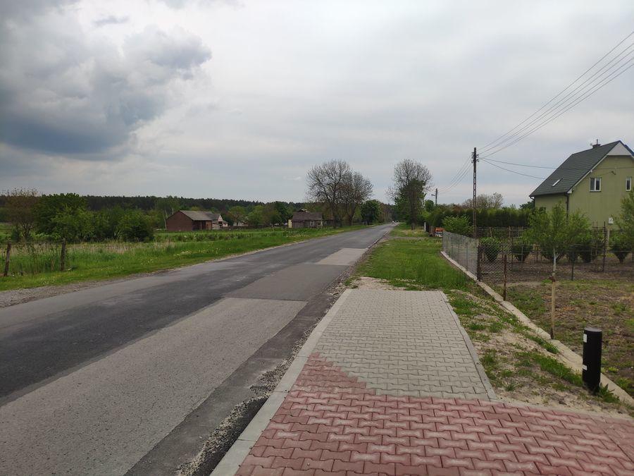 Planowane miejsce budowy chodnika w Opoce 1