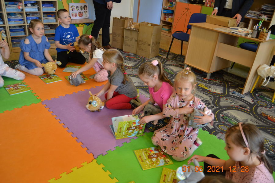 Dzień Dziecka w Publicznym Przedszkolu w Annopolu-wizyta władz samorządowych