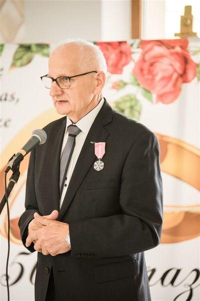 Pan Ryszard Gazda w imieniu Jubilatów składa  podziękowania za zorganizowanie  uroczystości