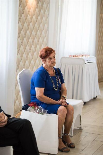 Pani Urszula Pradyszczuk podczas uroczystości 50-lecia Pożycia Małżeńskiego.
