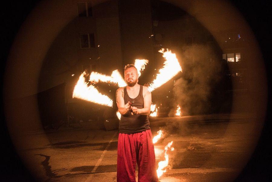 Występ Teatru Ognia