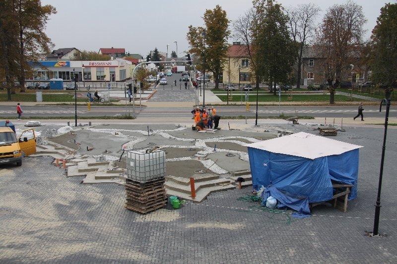 Park przed Urzędem Miasta