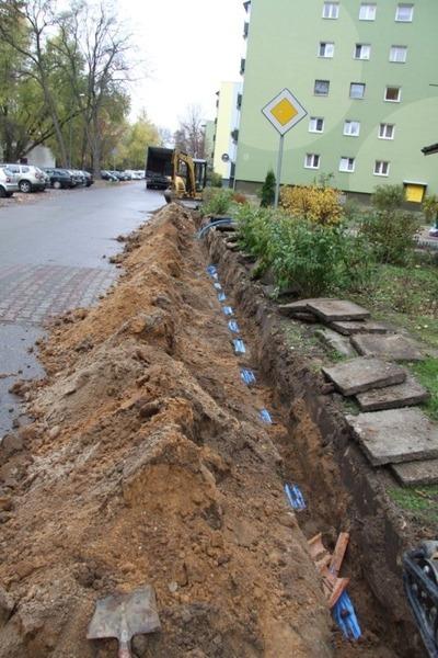 Budowa oświetlenia drogowego w ul. Ścibiora.