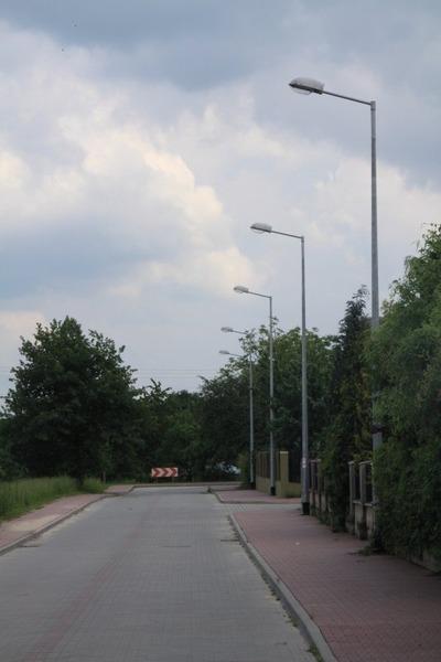 Budowa oświetlenia drogowego w ul. Żwirki i Wigury.