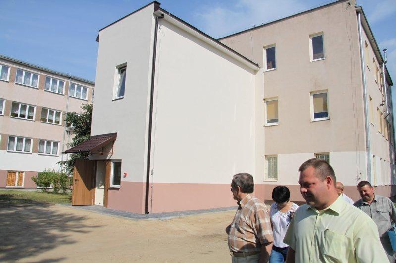 Budowa klatki schodowej w Specjalnym Ośrodku Szkolno-Wychowawczym w Dęblinie.
