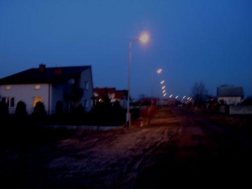 Budowa oświetlenia drogowego w ul. Słowackiego – II etap budowy.