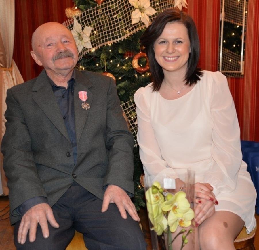 Elżbieta i Zdzisław Kapusta ( Pan Zdzisław przybył na uroczystość bez małżonki)