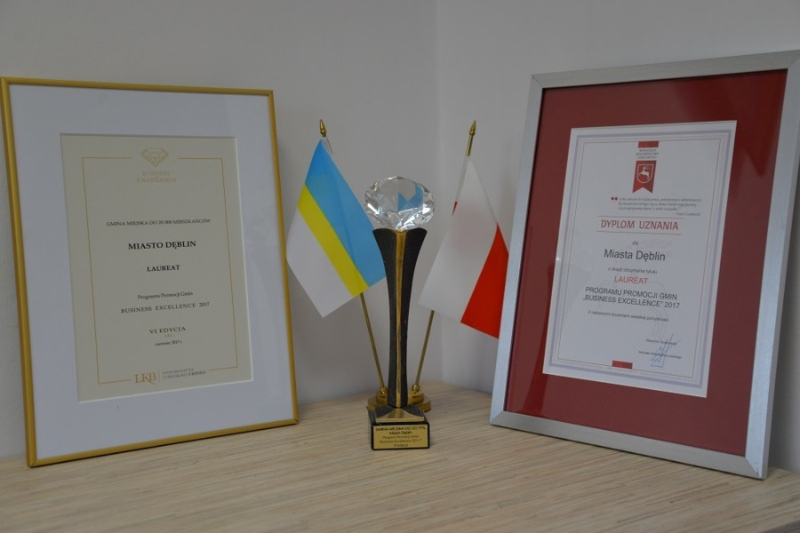 Dęblin laureatem Business Excellence