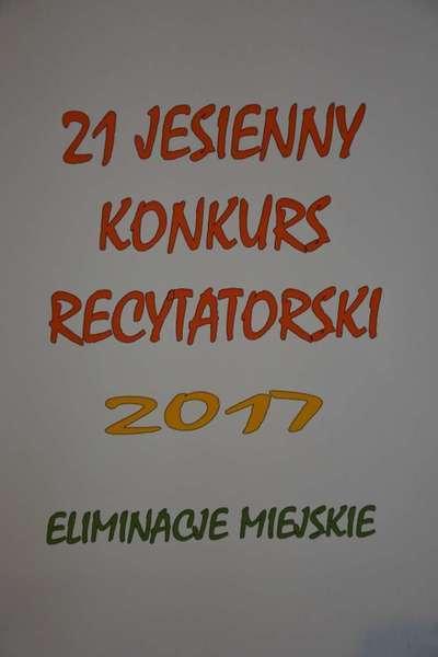 21. Jesienny Konkurs Recytatorski