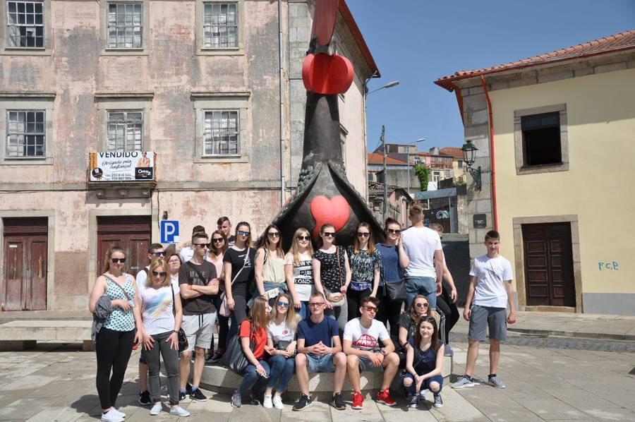 GORĄCE POWITANIE W PORTUGALII - praktyki zagraniczne uczniów ZSZ nr 2 w Dęblinie