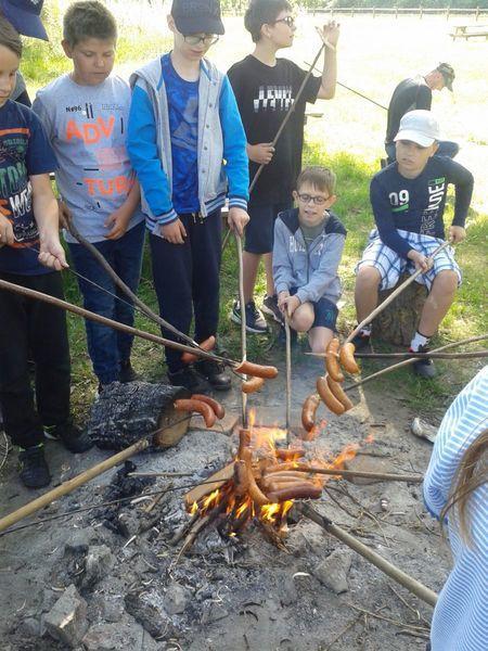 Majówka w Stężycy uczniów Szkoły Podstawowej nr 5 w Dęblinie.