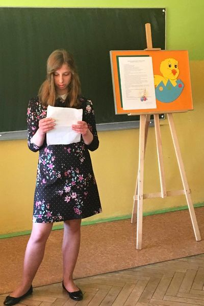 Szkolny Mistrz Pięknego Czytania w SOSW w Dęblinie