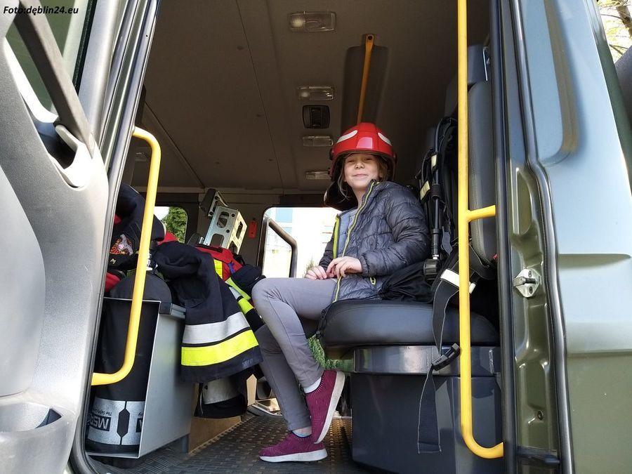 """Wizyta strażaków w """"Piątce"""""""