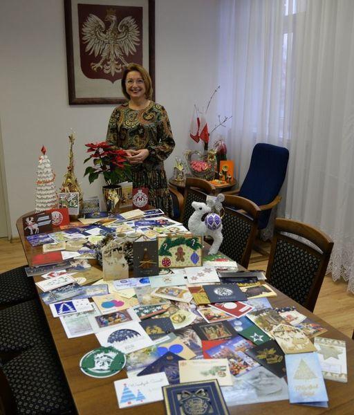 Podziękowania Burmistrz Miasta Dęblin za nadesłane karty noworoczne