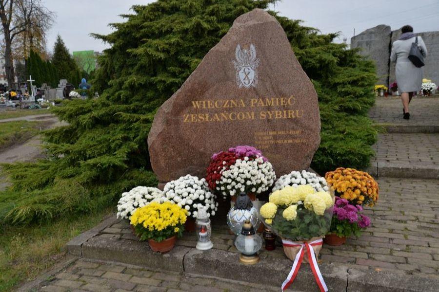 Obelisk ku czci Ofiar Sybiru w dniu 11 listopada 2020 roku
